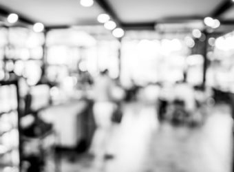 41688188 - black and white blur background, bokeh light at coffee shop.