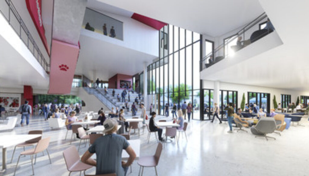 Lynda and Stewart Resnick Student Union at Fresno State interior