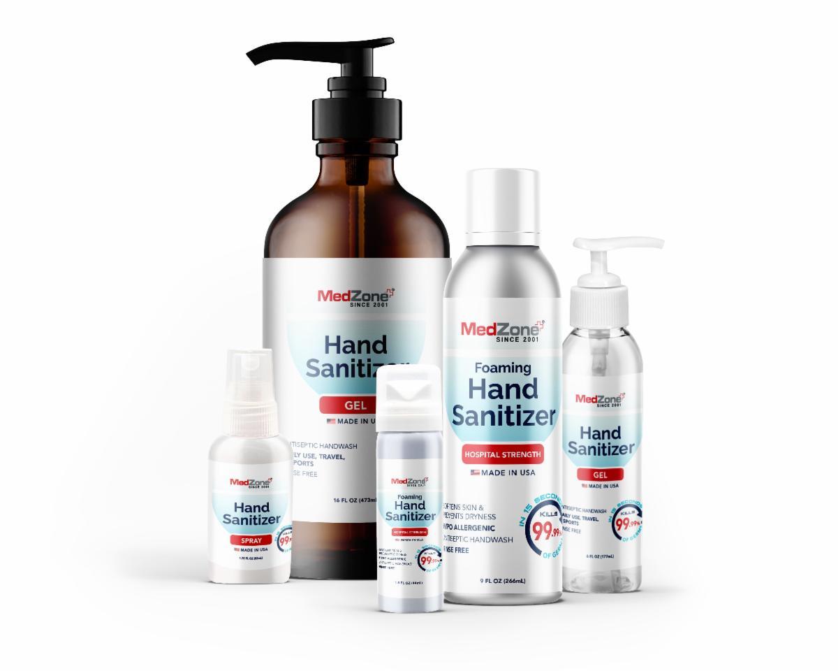 MedZoneHand Sanitizer Family Picture